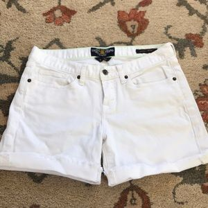 Lucky brand white denim cut off shorts, size 27